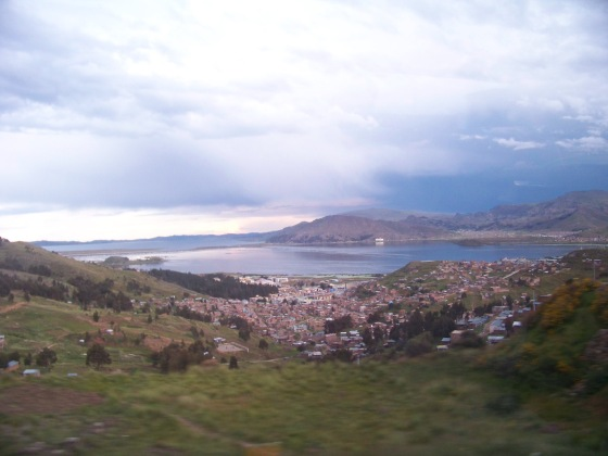 Panorama Puno i Wybrzeża jeziora Titicaca