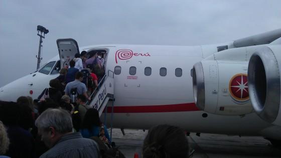 Samolot z Limy do Cusco