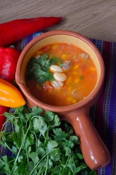 meksykanska zupa fasolowa 1